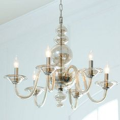 Emmeline 6 Light Chandelier | Home Decorators Glass Chandelier | Favorite Lighting Picks