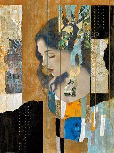 Paper Collage Art, Collage Art Mixed Media, Art Du Monde, Photocollage, Arte Pop, Portrait Art, Portraits, Figure Painting, Art Techniques