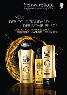 Schwarzkopf ad - Google 搜索 Typography Poster Design, Typographic Design, Shampoo Advertising, Product Advertising, Gliss Kur Hair Repair, Beauty Ad, Hair Beauty, World Hair, Poster