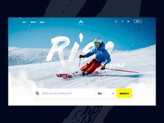 Landing page concept with parallax effect by Minh Pham ✪ on Dribbble Site Web Design, News Web Design, Ux Design, Slider Design, Website Designs, Layout Design, Web Sport, Restaurant Website Design, Minimal Web Design