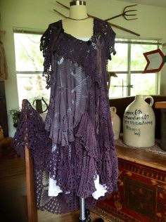 Luv Lucy Gypsy Witch Crochet Dress by LuvLucyArtToWear on Etsy, $375.00