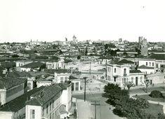 """0277-Obras de extensão da Avenida São João. ca. 1930 //  Excepcional tomada, tendo em plano intermediário o """"Castelinho"""" da Rua Apa. Ao fundo, o centro da cidade, com destaque para Edifício Martinelli."""