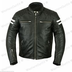 New New Arrival Men Real Lambskin Motorcycle Premium Quality Leather Biker Jacket 06 Mens Coats Jackets. Fashion is a popular style Lambskin Leather Jacket, Leather Men, Leather Jackets, Cowhide Leather, Slim Fit Jackets, Retro Men, Retro Fashion, Men's Fashion, Ebay