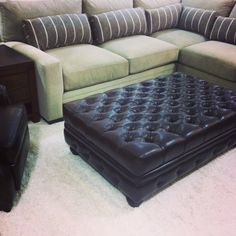 Oversized sectional & ottoman for ultimate comfort.
