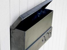 The Hyde Park Mailbox - Custom - Steel Modern Metal Letter Box Contemporary Personalized Metal Post Box Address Numbers Wall Mount Wall Mount Mailbox, Mounted Mailbox, Contemporary Mailboxes, Custom Mailboxes, Modern Mailbox, Building A Fence, Address Numbers, Post Box, Modern Fonts