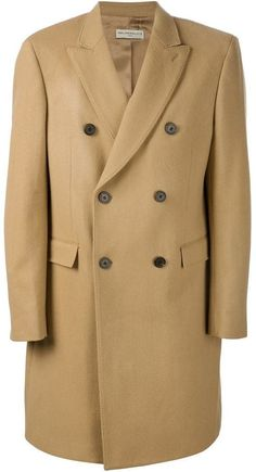$698, Melindagloss Double Breasted Overcoat. Sold by farfetch.com. Click for more info: https://lookastic.com/men/shop_items/347716/redirect