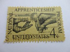 Apprenticeship 4c Old 1962 U.S. Postage Stamp.