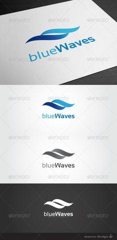 GraphicRiver Blue Waves Logo 998364
