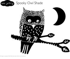 Wee Gallery: Halloween Download - Spooky Owl Shade