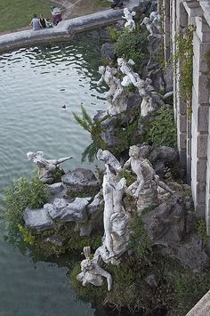 Fountain of Neptune, Caserta Royal Palace, Campania, Italy