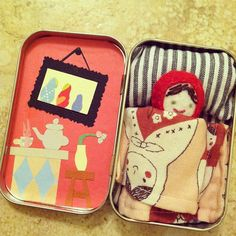 Doll and Gnome In Altoid Tin
