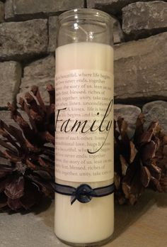 FAMILY prayer candle by PlainJoy on Etsy
