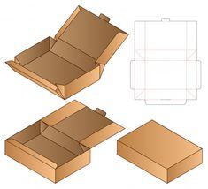 Box Packaging Die Cut Template For Print Packaging Carton, Food Box Packaging, Food Packaging Design, Karton Design, Restaurant Flyer, Diy Gift Box, Gift Boxes, Soap Boxes, Vintage Logo Design