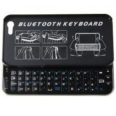 Ultra-thin Slide-out Mini Wireless Bluetooth Keyboard for iPhone 5 with Hard Shell Case (Black)