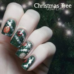 Inspirational photo by Melody Cann. Christmas tree nails. Very cool!  #nailart #christmas #christmastree #holiday #holidaynails #holidaynailart #christmasnails @Bloom.com