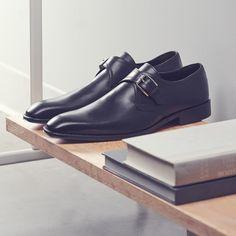 Basic leather monk. #Shoes