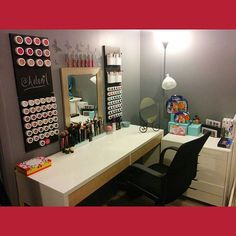 Updated vanity! Brought to you by Ikea, Walmart, ColourPop, and yours truly. I…