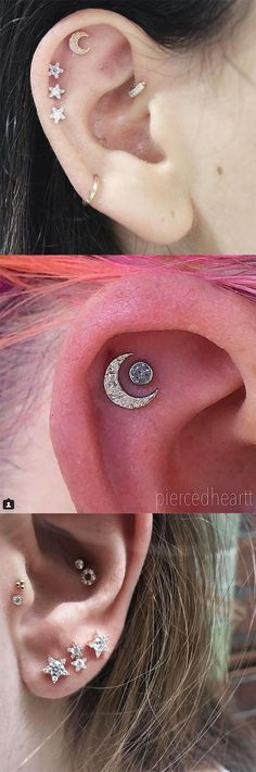 30+ TRENDING STAR & MOON EAR PIERCING AT JENNYSWEETY #Piercings