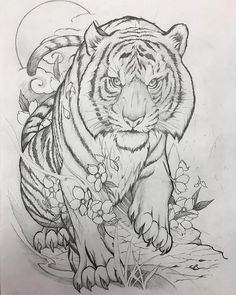 New Drawing Pencil Tattoo Art 31 Ideas Mandala Tattoo Design, Tiger Tattoo Design, Mandala Art, Tiger Design, Tiger Sketch, Tiger Drawing, Tiger Art, Sketch Drawing, Drawing Art