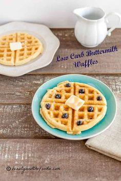 Low Carb Buttermilk Waffles- grain free, low carb & paleo.