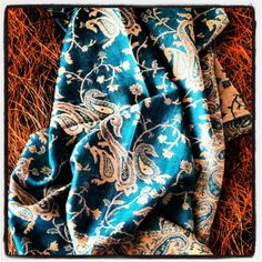 Teal Paisley Scarf Pashmina Women Fashion by LePetitMonkey on Etsy, $28.99
