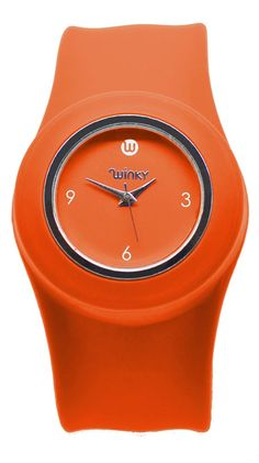 Slap Band Watch in Orange.