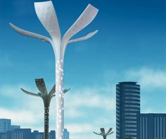Sustainable City Light is an ingenious system of street lights that hide her in. It's solar powered street lights which, like a flower opening up with the sunrise, with photovoltaic sensors .