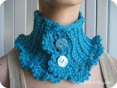 Crochet Neck Warmer by Alessandra Hayden.