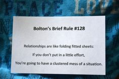 what do fitted sheets and relationships have in common?