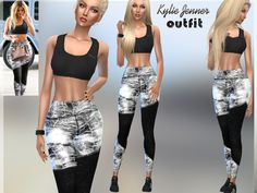 The Sims Resource: Kylie Jenner Outfit by Puresim • Sims 4 Downloads
