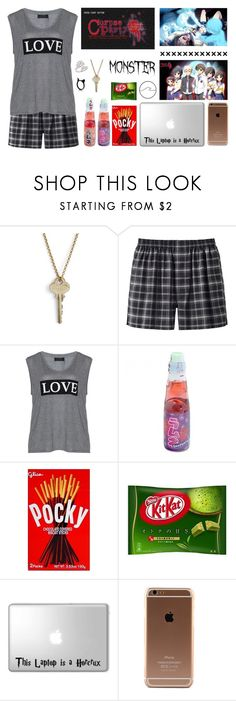 """Playing Corpse Party"" by cheyhall ❤ liked on Polyvore featuring The Giving Keys, Uniqlo, Carmakoma and The Rogue + The Wolf"