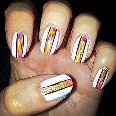 Electric rainbow stripe