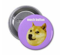 Must learn how to crochet diy clothing pinterest funny doge meme pinback button by turtlessoup on etsy solutioingenieria Choice Image