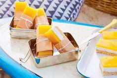Mango and coconut slice