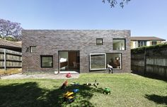 Big swinging square window. House Boone Murray / Tribe Studio Architects