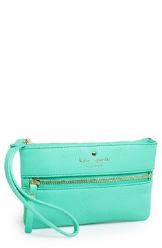 This cute small clutch can be placed in your larger everyday bag.  You can then take this little clutch out at night instead of galling your larger bag with you to events and happy hours.  kate spade new york 'cobble hill - bee' wristlet available at #Nordstrom