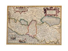 Map of the Holy Land, from 'Atlas Sive Cosmographicae Meditationes' by Henricus Hondius, ...