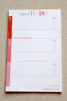 To Do List Notepad on Etsy