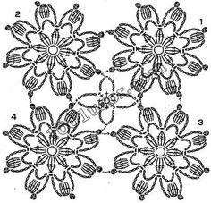 Free Crochet Doily Patterns, Crochet Snowflake Pattern, Crochet Motifs, Crochet Snowflakes, Crochet Diagram, Crochet Chart, Crochet Squares, Crochet Doilies, Crochet Flowers