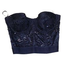 Black beaded and sequined forever 21 bustier Great condition, never worn embellished bustier, small from forever 21 Forever 21 Tops Crop Tops