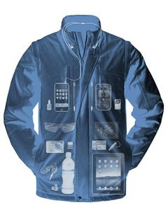 This jacket has 26 pockets, and can basically double as a carry-on-bag when travelling through airports.