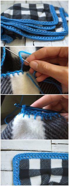 How to Crochet Around Fabric
