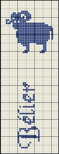 Grille filet pour crochet ou point de croix marque page - Marque page point de croix grille gratuite ...