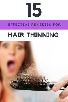 Are you losing your hair and want to know how to grow it back naturally?  15 Most Effective Remedies For Thinning Hair in the World. | Ideahacks.com