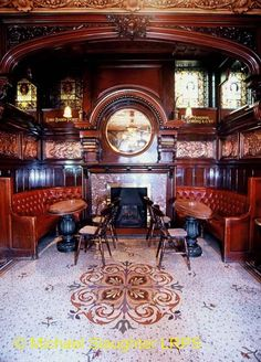 Philharmonic, Liverpool, Merseyside - Fireplace in Lobby Bar.It's still like that!