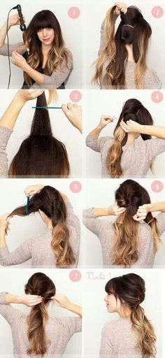 Simple easy hair style