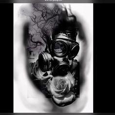 Design a tattoo in photoshop – Tattoo 2020 Tattoo Mascara, V For Vendetta Tattoo, Photoshop Tattoo, Gas Mask Tattoo, Realistic Tattoo Sleeve, Tattoo Studio, Tattoo Graphic, Dark Tattoo, Tattoo Set