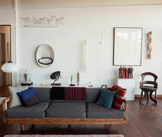 Enamel artist June Schwarcz's living room Image