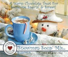 Snowman Soup Hot Chocolate Cocoa Drink Mix - Country Home