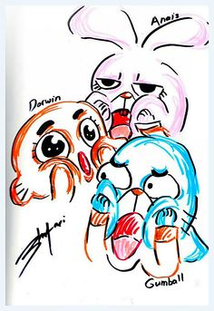 Amazing World Of Gumball!!. Good face work! Never stop drswing!.